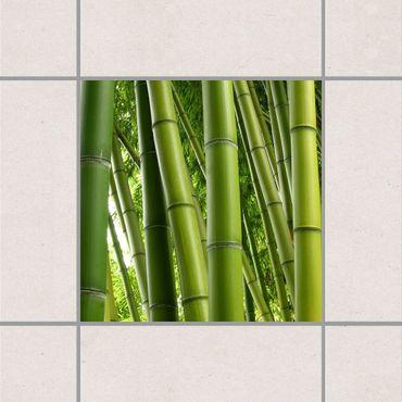 Adesivo per piastrelle - Bamboo Trees No.1 25cm x 20cm