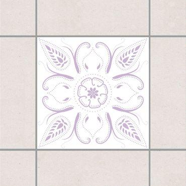 Adesivo per piastrelle - Bandana White Lavender 15cm x 15cm