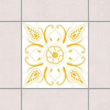 Adesivo per piastrelle - Bandana White Melon Yellow 15cm x 15cm