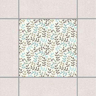 Adesivo per piastrelle - Foliage bohemian in winter 25cm x 20cm