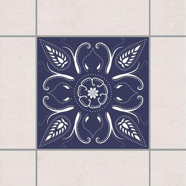 Adesivo per piastrelle - Blue Bandana 15cm x 15cm