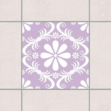 Adesivo per piastrelle - Flower Design Lavender 25cm x 20cm