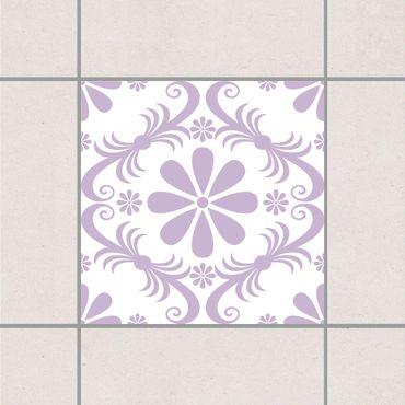 Adesivo per piastrelle - Flower Design White Lavender 25cm x 20cm