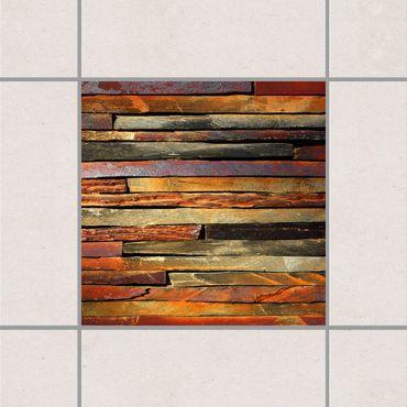 Adesivo per piastrelle - Stack of Planks 25cm x 20cm