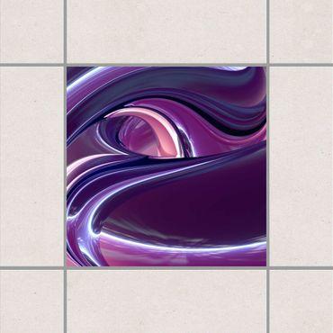 Adesivo per piastrelle - Circles in Purple 25cm x 20cm