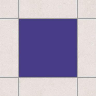 Adesivo per piastrelle - Colour Dark Lilac 10cm x 10cm