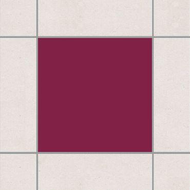 Adesivo per piastrelle - Colour Wine Red 15cm x 15cm