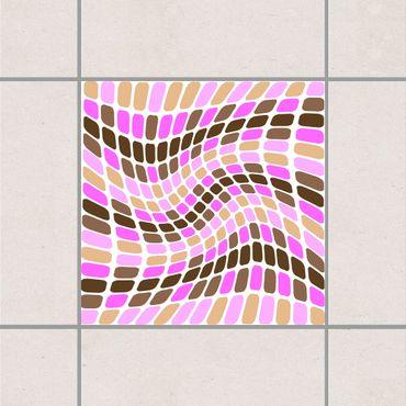 Adesivo per piastrelle - Dancing Square 25cm x 20cm
