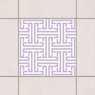 Adesivo per piastrelle - Decorative Labyrinth Lavender 25cm x 20cm