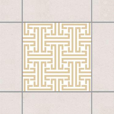 Adesivo per piastrelle - Decorative Labyrinth Light Brown 25cm x 20cm