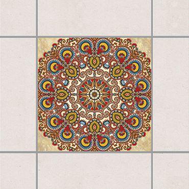 Adesivo per piastrelle - Coloured Mandala 25cm x 20cm