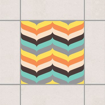 Adesivo per piastrelle - Herringbone Autumn Atmosphere 25cm x 20cm