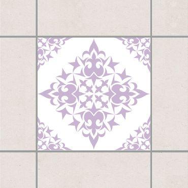 Adesivo per piastrelle - Tile Pattern White Lavender 25cm x 20cm