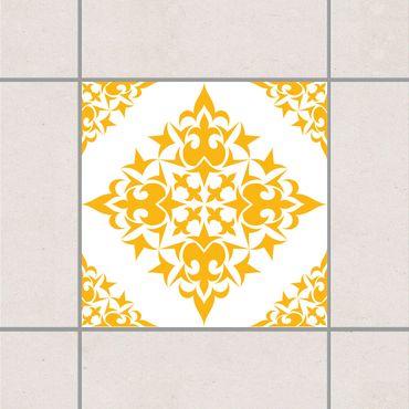 Adesivo per piastrelle - Tile Pattern White Melon Yellow 25cm x 20cm