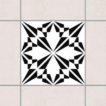 Adesivo per piastrelle - Floral silhouette 25cm x 20cm