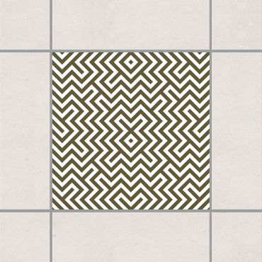 Adesivo per piastrelle - Geometric Design Brown 25cm x 20cm