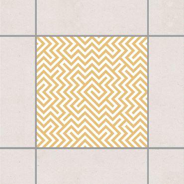 Adesivo per piastrelle - Geometric Pattern Design Yellow 25cm x 20cm