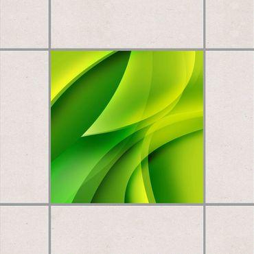 Adesivo per piastrelle - Green Composition 25cm x 20cm