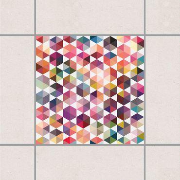 Adesivo per piastrelle - Hexagon facets 25cm x 20cm