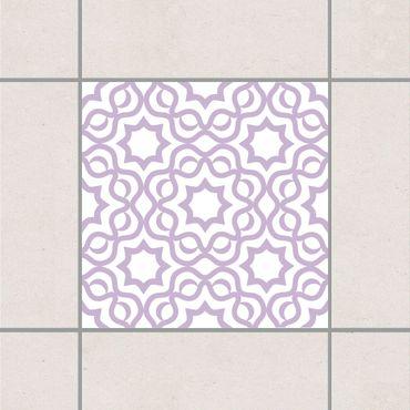 Adesivo per piastrelle - Islamic White Lavender 15cm x 15cm