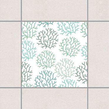 Adesivo per piastrelle - Coral Spring 15cm x 15cm