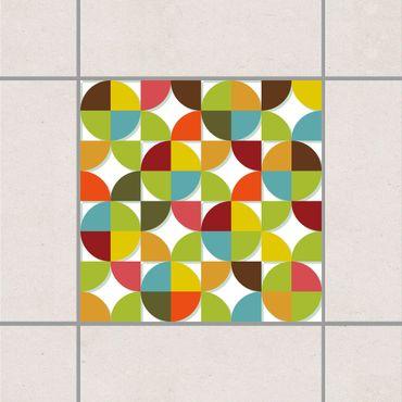 Adesivo per piastrelle - Circles in the quarter 15cm x 15cm