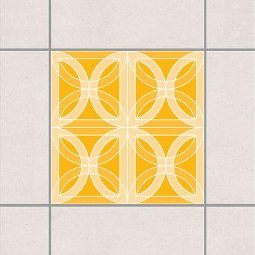 Adesivo per piastrelle - Circular Tile Design Melon Yellow 25cm x 20cm