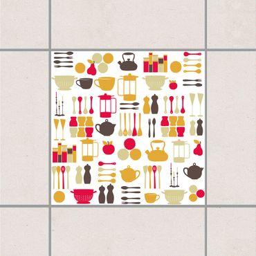 Adesivo per piastrelle - Kitchen Fairy Pink 25cm x 20cm