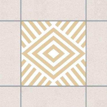 Adesivo per piastrelle - Marina Light Brown 25cm x 20cm