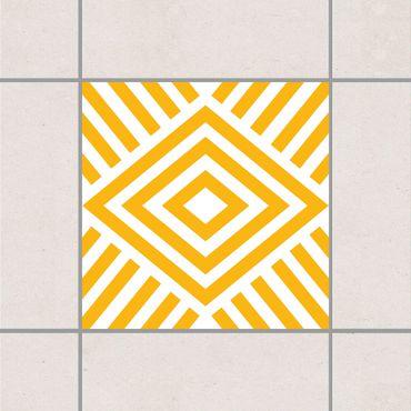 Adesivo per piastrelle - Yellow Marina Melon 25cm x 20cm