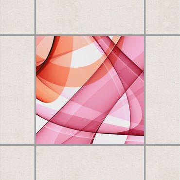 Adesivo per piastrelle - poppies in Pastel 25cm x 20cm