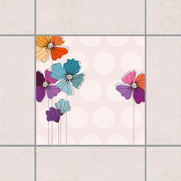 Adesivo per piastrelle - Mosaic Tiles Spring Set 25cm x 20cm