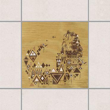 Adesivo per piastrelle - No.MW17 Indian Owl 25cm x 20cm