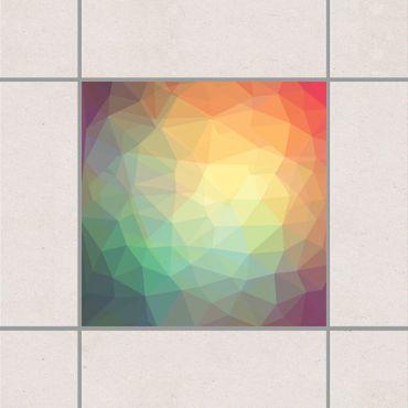 Adesivo per piastrelle - Triangular No.RY32 25cm x 20cm