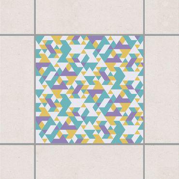 Adesivo per piastrelle - No.RY33 Lilac Triangles 25cm x 20cm