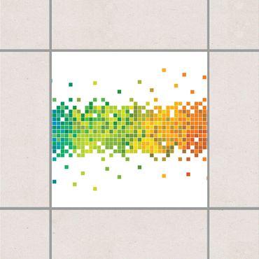 Adesivo per piastrelle - Pixel Rainbow 25cm x 20cm