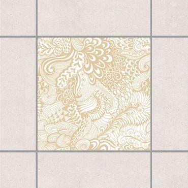Adesivo per piastrelle - Poseidon's Garden Light Brown 25cm x 20cm