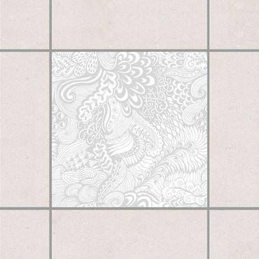 Adesivo per piastrelle - Poseidon's Garden Light Grey 25cm x 20cm