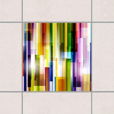Adesivo per piastrelle - Rainbow Cubes 25cm x 20cm