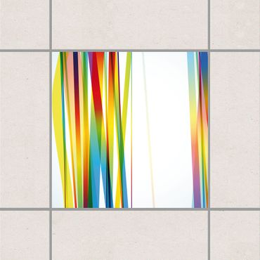 Adesivo per piastrelle - Rainbow Stripes 25cm x 20cm