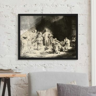 Poster con cornice - Rembrandt Van Rijn - Christ Healing The Sick - Orizzontale 3:4