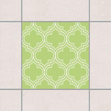 Adesivo per piastrelle - Retro Spring Green Morocco 25cm x 20cm