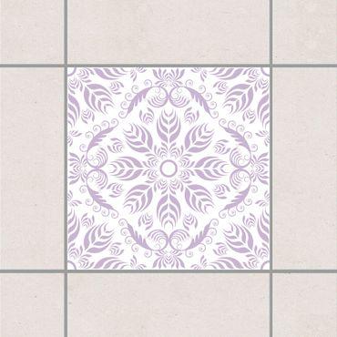 Fliesenaufkleber - Rosamunde White Lavender Flieder