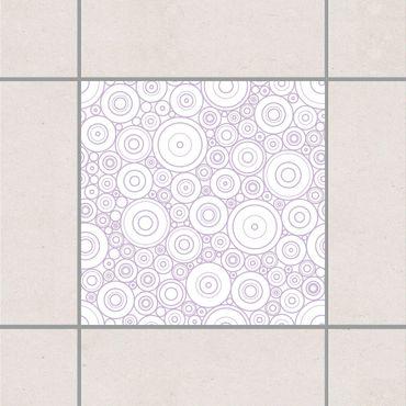 Adesivo per piastrelle - Secession White Lavender 15cm x 15cm