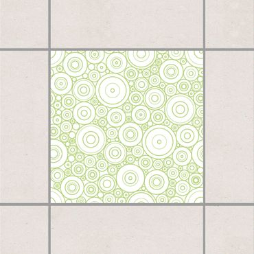 Adesivo per piastrelle - Secession White Spring Green 15cm x 15cm