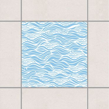 Adesivo per piastrelle - They dreamed of delicate waves on the sea Light Blue 25cm x 20cm