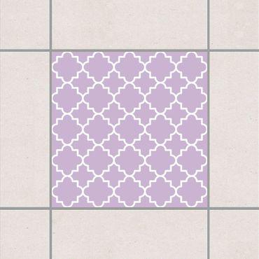 Adesivo per piastrelle - Traditional Quatrefoil Lavender 25cm x 20cm