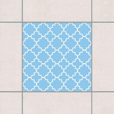 Adesivo per piastrelle - Traditional Quatrefoil Light Blue 25cm x 20cm