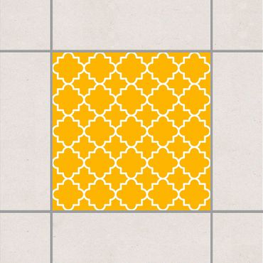 Adesivo per piastrelle - Traditional Quatrefoil Melon Yellow 25cm x 20cm