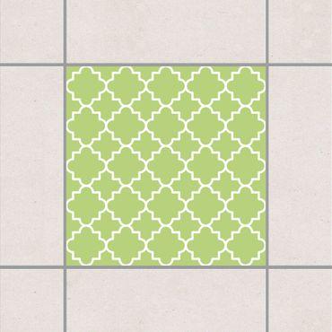 Adesivo per piastrelle - Traditional Quatrefoil Spring Green 20cm x 15cm